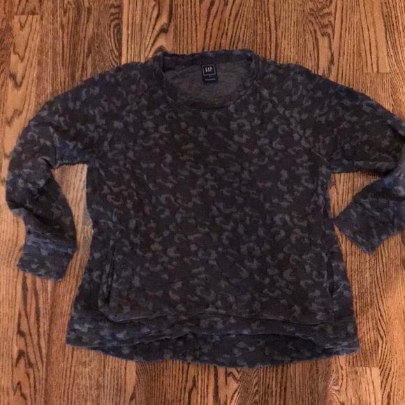 GAP Tops - Gap sweatshirt cheetah print size small